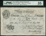 Bank of England, E.M. Harvey, £10, Liverpool 29 May 1920, serial number 59V 96748, black and white,