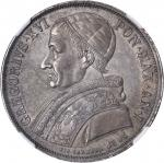 ITALY. Papal States. Scudo, 1831-B, Year 1. NGC MS-63.