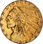 1912 Indian Quarter Eagle. MS-65 (PCGS).