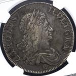 GREAT BRITAIN Charles II チャー儿ズ2世(1660~85) Crown 1662 NGC-VF30 VF
