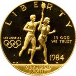 1984-W Los Angeles Olympiad Gold $10. Proof-69 Deep Cameo (PCGS).
