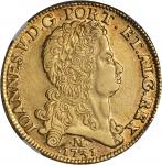 BRAZIL. 12,800 Reis, 1731-M. Joao V (1706-50). NGC EF Details--Surface Hairlines.