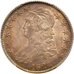 1824 Capped Bust Half Dollar. PCGS MS64