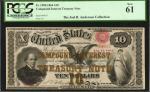 1864年国库券10美元 PCGS Currency