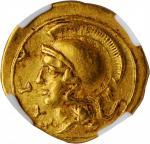 SICILY. Syracuse. Dionysios I, 406-367 B.C. AV 10 Litrai (Didrachm) (0.63 gms), ca. 405 B.C. NGC Ch