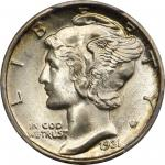 1931-S Mercury Dime. MS-67 FB (PCGS).