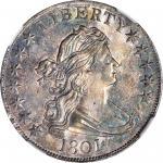 1801半身像半美元 NGC AU 58+