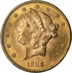 1896 Liberty Head Double Eagle. MS-64 (PCGS).