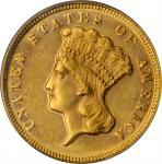 1872 Three-Dollar Gold Piece. MS-62 (PCGS). CAC.