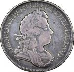 George I (1714-27), Halfcrown, 1726 d.tertio, laureate and draped bust right, rev. crowned shields c