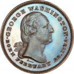 Circa 1860 Washington / Edward Everett muling by Joseph Merriam. Musante GW-322, Baker-214A. Copper,