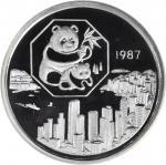 1987年第6届香港国际硬币展览会纪念银章5盎司 PCGS Proof 69
