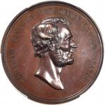 1871 Abraham Lincoln Emancipation Proclaimed Medal. Bronzed Copper. 45 mm. King-232, Cunningham 7-06