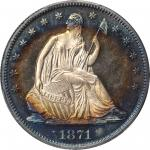 1871 Liberty Seated Half Dollar. Proof-65+ Cameo (PCGS). CAC.