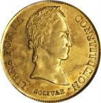 BOLIVIA. 8 Scudos, 1841-PTS LR. Potosi Mint. PCGS AU-58 Gold Shield.