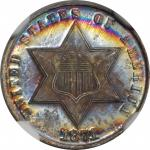1871 Silver Three-Cent Piece. MS-68 (NGC).