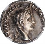 AUGUSTUS, 27 B.C.- A.D. 14. AR Denarius (3.87 gms), Lugdunum Mint, 2 B.C.- A.D. 12. NGC Ch EF, Strik