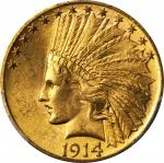 1914-S Indian Eagle. MS-64 (PCGS). CAC.