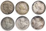 1895-1926年英属海峡殖民地1毫6枚,1917及18年AEF品相,其馀F至VF