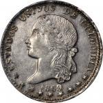 COLOMBIA. 1869 Peso. Medellín mint. Restrepo 318.1. MS-62 (PCGS).