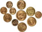 PERU. Mixed Gold Coinage, 1903-66. CHOICE EXTREMELY FINE to GEM BRILLIANT UNCIRCULATED.