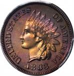 1883 Indian Cent. Proof-66 RB (PCGS). CAC.
