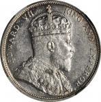 1904-B年海峡殖民地一圆银币 STRAITS SETTLEMENTS. Dollar, 1904-B. Bombay Mint. NGC MS-61.