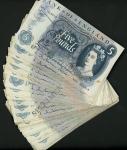 x Bank of England, J. Q. Hollom, £5 (40), ND (1963), prefixes A, B, (EPM B297), fine to very fine (4