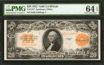Fr. 1187. 1922 $20 Gold Certificate. PMG Choice Uncirculated 64 EPQ.