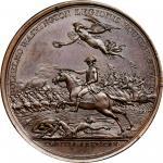 1781 William Washington at Cowpens medal. Betts-594. Copper. Original. Paris Mint. 45.9 mm, 657.8 gr