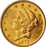 1873 Liberty Head Double Eagle. Open 3. MS-61 (PCGS).