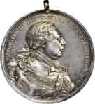 1814 George III Indian Peace Medal. Silver. Large Size. 75.2 mm. 1867.2 grains. Adams 12.1. Choice E
