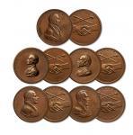 美国总统和平与友谊铜章五枚