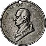 1841 John Tyler Indian Peace Medal. Third Size. Julian IP-23, Prucha-45. Silver. Very Fine, or so.
