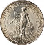 1929/1-B年英国贸易银元站洋一圆银币。孟买铸币厂。GREAT BRITAIN. Trade Dollar, 1929/1-B. Bombay Mint. PCGS MS-64 Gold Shie