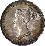 ITALY. Parma. 5 Lire, 1815. NGC MS-61.