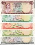 BAHAMAS. Bahamas Government. 50 Cents to 10 Dollars, ND. P-17 to 20 & 22. Uncirculated.