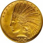 1910 Indian Eagle. MS-63 (NGC).