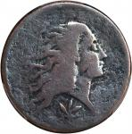 1793 Flowing Hair Cent. Wreath Reverse. S-9. Rarity-2. Vine and Bars Edge. Good Details--Environment