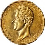 ITALY. Sardinia. 100 Lire, 1836-P. Genoa Mint. Charles Albert. NGC AU Details--Rim Filing.