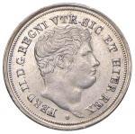 Italian coins;NAPOLI Ferdinando II (1830-1859) Mezzo carlino 1838 - Magliocca 657 AG (g 1.13) Graffi
