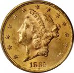 1885-S Liberty Head Double Eagle. MS-63+ (PCGS). CAC.