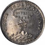 CHILE. Peso, 1817-SoFJ. NGC MS-62.