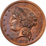 1878 Pattern Standard Dollar. Judd-1554b, Pollock-1746. Rarity-7. Copper. Reeded Edge. Proof-65 RB (