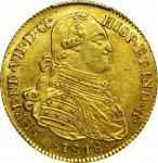 COLOMBIA. 1818-JF 4 Escudos. Santa Fe de Nuevo Reino (Bogotá) mint. Ferdinand VII (1808-1833). Restr