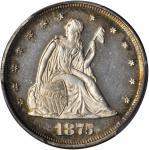 1875 Twenty-Cent Piece. BF-1. Rarity-1. Proof-64 Cameo (PCGS).
