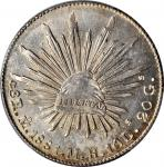 MEXICO. 8 Reales, 1881-Mo MH. Mexico City Mint. PCGS Genuine--Cleaned, Unc Details Gold Shield.