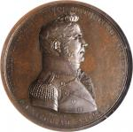 1813 Lieutenant Edward R. McCall / USS Enterprise vs. HMS Boxer Naval Medal. Bronzed Copper. 65 mm.