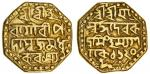 Assam, Rudra Simha (1696-1714), octagonal gold Mohur, 11.24g, Sk.1620, four-line legends both sides,