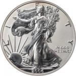 Lot of (2) 2006-Dated Silver Eagles. 20th Anniversary. (PCGS). Secure Holder.